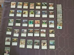 Mono Green Magic the gathering Deck Great for beginners Awesome for family games