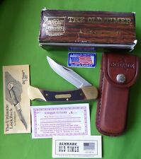 "Schrade USA made 7OT Old Timer ""Cave Bear"" Lockback Knife-MIB"