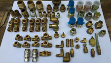 Quantity of Assorted Brass Pluming Automation Fittings
