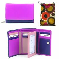 Golunski Leather coin purse with RFID Protection Colour reddy//purpe Style Zen 22