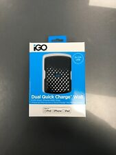 iGo Quick Charge Apple Approved Dual USB 4.2A UK Mains Fast Charger MFi Black