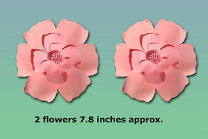 7.8/11/15 inches Paper Flowers Backdrop Wall Decoration Large Rose Flower COLORS