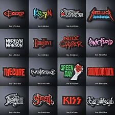 DIY Embroidered Rock Metal Music Patches Band Patch Iron On / Sew On Bags Badge