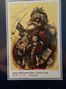 Liberty  Wood Jigsaw Puzzle ☆ Merry Old Santa Claus ☆ 445 pcs☆ Thomas Nast ☆ New