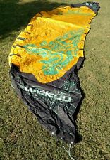 Best Waroo 11 Black and Yellow kiteboarding kite and backpack