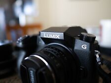 Panasonic LUMIX G7 4k Camera w/ TWO PRIME LENSES: 20mm f1.7 and 25mm f1.8 lens.