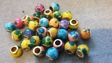 30 MIXED COLOUR RESIN  BEADS.