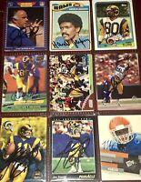 former Los Angeles Rams NFL football card auto autograph LOT Henry Ellard +more!