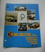 KC Hilites INC 1978 Vintage Commercial & Recreational Auto Lighting Catalog