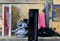Nintendo Wii Black Console RVL-101 Bundle w/ Games 2 Pink Controller