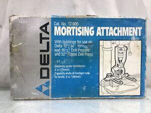 """Delta Hollow Chisel Mortising Attachment 17-905 12"""" 14"""" 15"""" 16 1/2"""" Drill Press"""