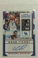2020 Contenders Draft Picks Immanuel Quickley RC Red Parallel Game Ticket Auto