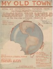 My Old Town, Around The World, 1911, vintage theatre music