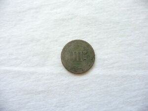 1851 O Three Cent Piece Silver Trime 3c Circulated Free Ship