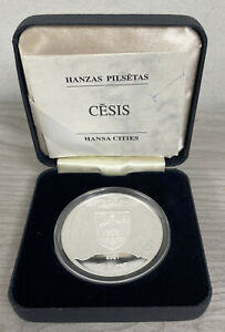 2001 Hansa Cities Cesis Latvia Silver Proof Coin