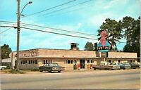 Jesup Georgia The Pig BBQ Restaurant Diner Hodges Cars Postcard Wayne County
