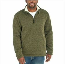 Orvis Heather Green Rosin 1/4 Zip Pullover Sherpa Lined Sweatshirt Size Large L
