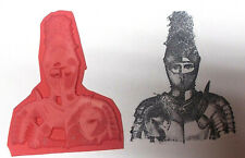 Medeival Medieval knight in armour armor rubber stamp unmounted die fantasy man