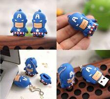 1pc 64GB Captain America Super Hero USB Flash Thumb Drive USA Shipper