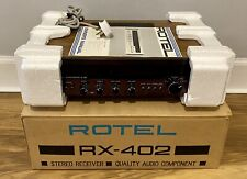 More details for rotel rx-402 am/fm stereo receiver vintage audio component original box & manual