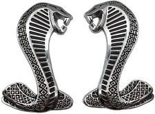 New Set Chrome Mustang Shelby Cobra Fender Emblems Badge 3D Nameplate Logo