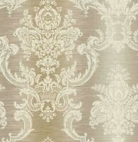 Victorian Wallpaper Damask Wallpaper Vintage Texture Wallpaper Bronze Gray Cream