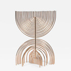YAACOV AGAM LIMITED EDITION MENORAH SCULPTURE SIGNED & NUMBERED WITH LUCITE CASE