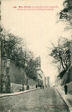 Carte Vieux PARIS Rue Clovis au 1er plan à gauche restes de l'enceinte Philippe