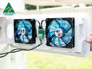 Klevacool Caravan Fridge Fan Kit to suit Vents on Caravans & Campers.