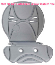 "OK BABY REPLACEMENT SEAT PAD FOR ""10 +"" MODEL BABY/CHILD BIKE SEAT GREY OKB429"