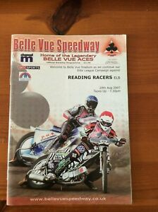 2007 BELLE VUE v READING RACERS  29th AUGUST   ( GOOD CONDITION )