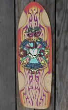 "Rare Bull Dog Skates Skateboard Deck Skate South Ride BDS Skull 30x10"""