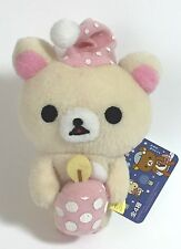 Rilakkuma Korilakkuma White Relax Bear Plush Doll Sit up late San-x Japan Import