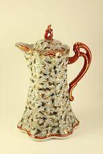 Vtg Japanese Asian Porcelain Kutani Art 1000 Crane Birds In Flight Pitcher Ewer