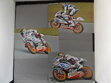 "COLLECTION OF THREE 9"" x 6"" PHOTOGRAPHS - 45 SCOTT REDDING - BLUSENS APRILIA 125"