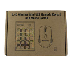 Numeric Keypad  Mouse Combo, Cateck 2.4G Wireless Mini USB Number Pad Keyboard