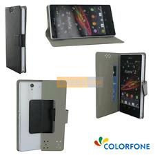 "Etui Folio Rabattable Universel BOOK CASE Noir pour QILIVE Smartphone Q5 - 5.5"""