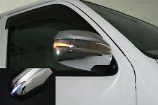 Chrome Side Mirror Cover Blue LED Toyota Hiace 200 Prado TRJ120 Lexus GX470