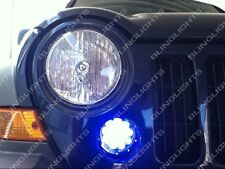 2005-2007 Jeep Liberty KJ Blue LED Grille Corner Driving Fog Lights Lamps