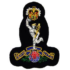 Royal Signals Navy Cloth Cap Badge