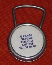 Porte-clé Keychain Garage GIAUME RENAULT ANTIBES + ST Cristophe & Enfant jésus