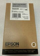 New Genuine Sealed Epson T6039 Light Light Black Ink Cartridge 7800 9800 2015