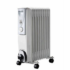 Daewoo Portable Oil Filled Radiator 2000w 9 Fin Heater Adjustable Thermostat