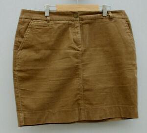 Marks & Spencers Brown Needlecord Mini Skirt UK 14