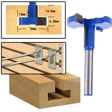 1x 1/4'' Shank Straight T-Track T-Slot Router Bits Woodworking Cutter Steel Tool
