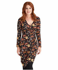 Long Sleeve Floral Wrap Dresses