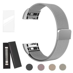Metal Band Compatible Fitbit Charge 2 Milanese Stainless Steel Metal Magnetic