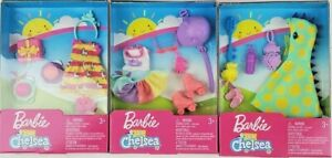 Barbie Club Chelsea Clothing Accessories pack lot of 3 Birthday Skating Bath