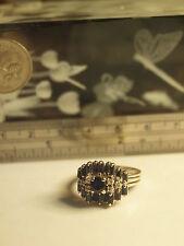 GENUINE 18K WHITE GOLD LADIES NATURAL SAPPHIRE & DIAMOND RING SIZE 17.3MM(US-7)