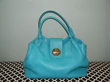 Kate Spade Bexley Jessie Turquoise Pebbled Leather Satchel Handbag Tote!